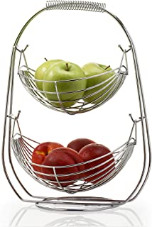 Saganizer 2 Tier Fruit Baskets fruit basket