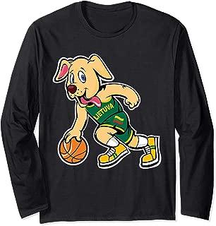 Dog Lithuania Basketball Jersey Lietuva Flag Gift Long Sleeve T-Shirt