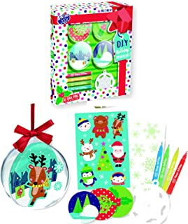 Christmas Tree Ornament Decorating Kit Kids Children Xmas Arts Craft Activity Game, Holiday Toy DIY Ornament Maker Keepsake (Designs 2)