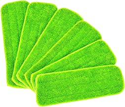 6 stuks MOP Cleaning Wet Pad for alle spray MOPS & MOPS WASBARE (Color : Green)