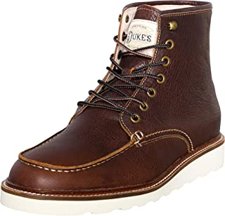Duke's Mens Boots - Winslow Leather Boot with Premium Cushion Insole