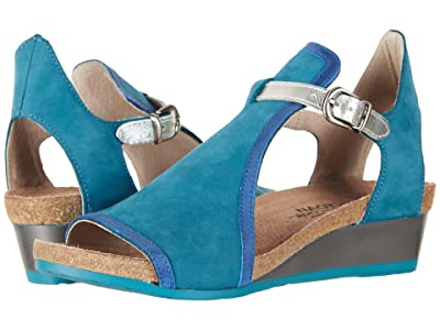 Naot Fiona (Teal Nubuck/Oily Blue Nubuck/Silver Luster Leather) Women