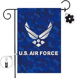 Bonsai Tree air Force Seasonal Burlap Garden Flag Banner Decorative Outdoor Double Sided Yard Flag 12 x 18 Prime