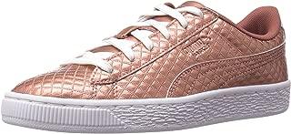 PUMA Kids' Basket Met Emboss Sneaker