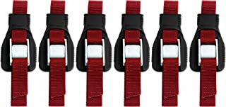 Riverside Cartop Carriers HD Utility Straps (6-Pack) with Backpack, Red, 9-Feet