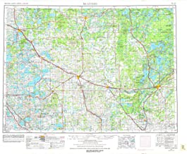 YellowMaps Brainerd MN topo map, 1:250000 Scale, 1 X 2 Degree, Historical, 1953, Updated 1977, 22.1 x 28.3 in