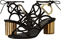 Geometric Lace-Up Sandal