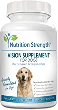 Nutrition Strength Eye Care for Dogs Daily Vision Supplement with Lutein, Zeaxanthin, Astaxanthin, CoQ10, Bilberry Antioxidants, Vitamin C, Vitamin E Support for Dog Eye Problems, 120 Chewable Tablets