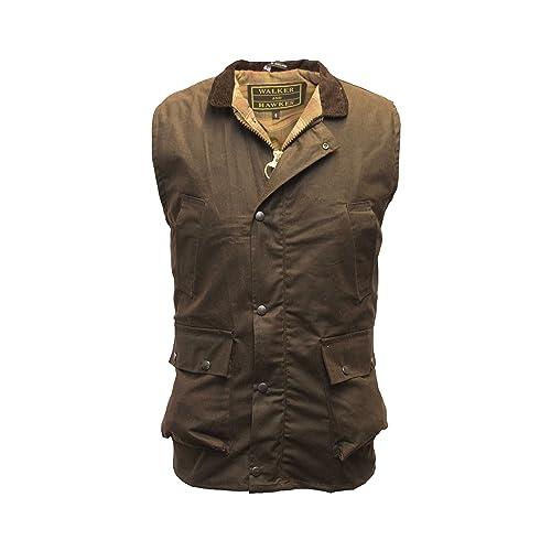 80f74ca8 Walker & Hawkes - Men's Wax Bodywarmer Vest Countrywear Waistcoat