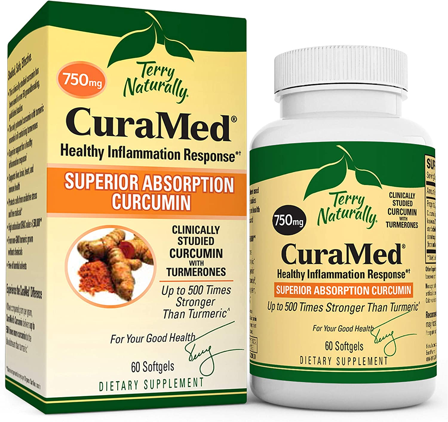 40% OFF Cheap Sale Terry Naturally CuraMed 750 mg excellence 3 - Pack 60 Softgels Superior