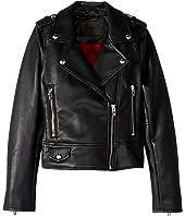 Vegan Leather Moto Jacket (Big Kids)