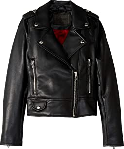 Vegan Leather Moto Jacket (Big Kids)