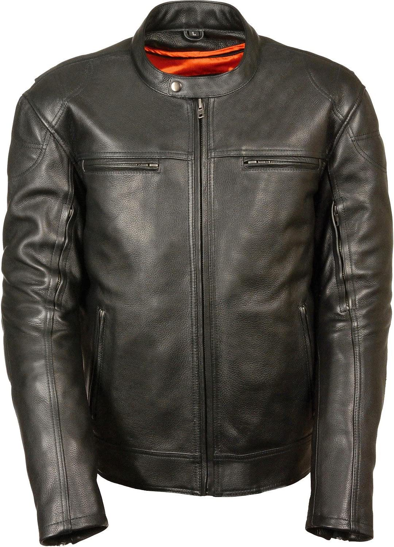 Milwaukee Leather Men's Longer Body Vented Jacket Black (Medium)
