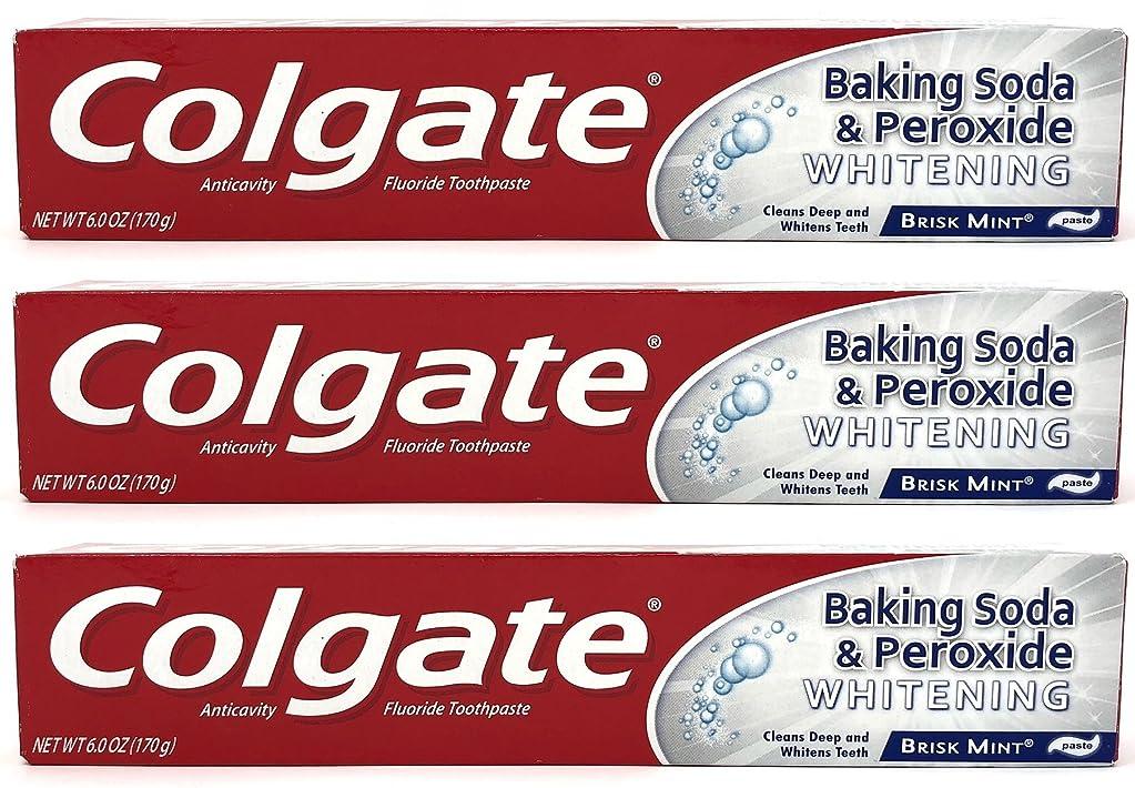 スイング考古学者表示Colgate 重曹と過酸化物ホワイトニング歯磨き、好調ミント、6オズ(3パック)
