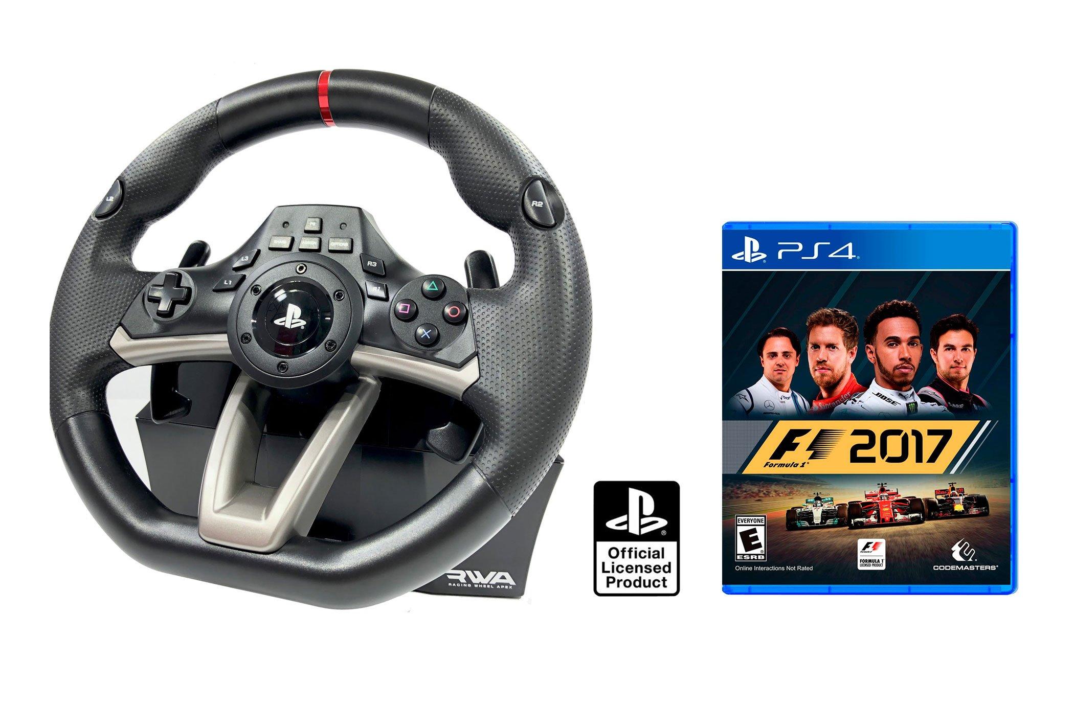 Volante PS4 Licencia Original Playstation 4 RWA Apex + Formula 1 - F1 2017: Amazon.es: Videojuegos