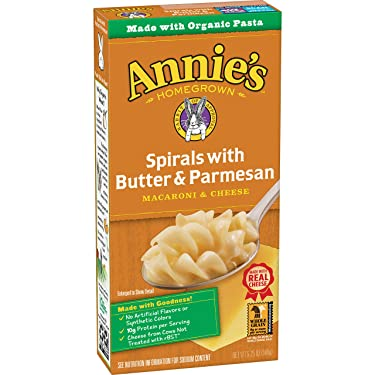 Annie's Spirals With Butter & Parmesan Macaroni and Cheese, Natural, 5.25 oz