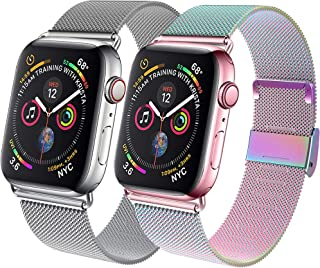 GBPOOT Compatible for Watch Band 38mm 40mm 42mm 44mm, Wristband Loop Replacement Band for Iwatch Series 5,Series 4,Series ...