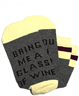 Cotton Funny Crew Socks, If You Can Read This Bring Me Wine Socks