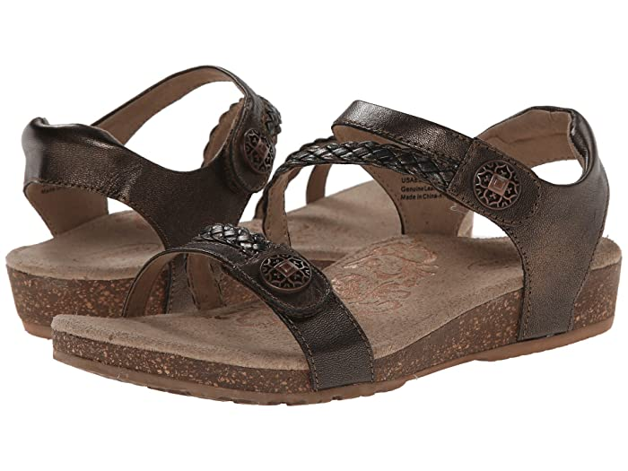 Aetrex  Jillian Quarter Strap (Bronze) Womens Sandals