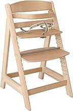 trona roba Sit Up III, silla autoajustable utilizable como trona para bebé y como silla juvenil, en madera maciza, acabada en madera natural