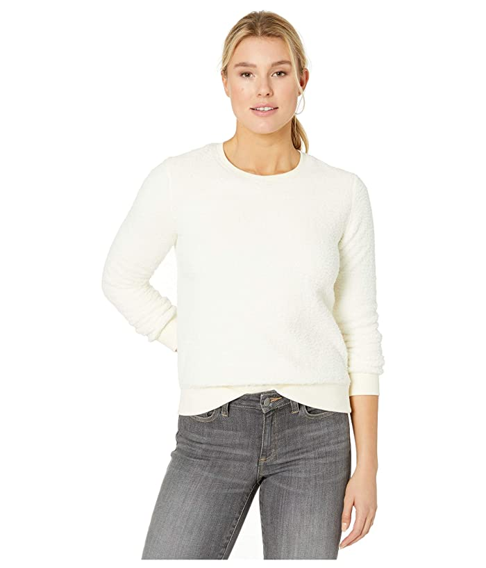 Lucky Brand  Sherpa Scoop Neck Pullover Sweatshirt (Birch) Womens Sweatshirt