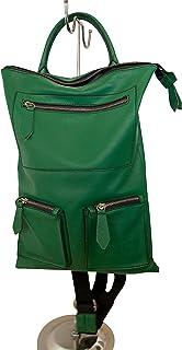 BISBAG, zaino unisex in vera pelle pregiata e riciclata, borsa fatta a mano a Firenze da abili artigiani, Made in Italy (V...