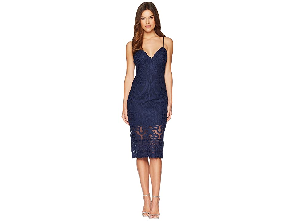 Bardot Gia Lace Dress (Navy) Women's Dress