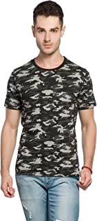 Alan Jones Military Camouflage Men's Round Neck Half Sleeve Cotton T-Shirt