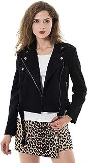faux suede cozy moto jacket
