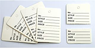 1000 Multi Colors Manila Marking 2 Parts Hard Paper Unstrung Coupon Tag Size 4.5x2.5cm (White)
