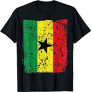 Faded Ghana Flag, Distressed Flag of Ghana T-Shirt