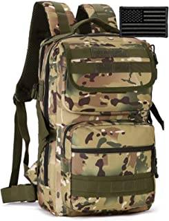 Protector Plus Tactical Motorcycle Backpack Small Military MOLLE Cycling Daypack Army Assault Pack Bug Out Bag Hiking Camp...