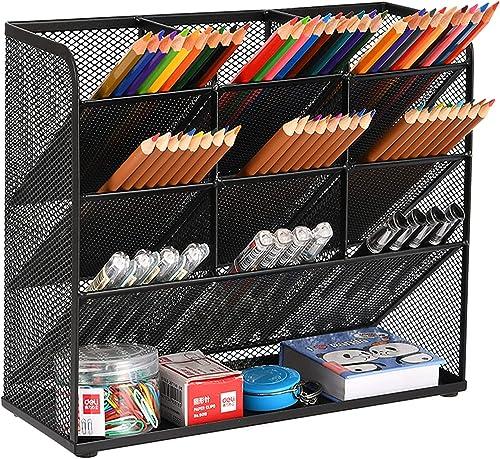 Marbrasse Mesh Desk Organizer, Multi-Functional Pen Holder, Pen Organizer for desk, Desktop Stationary Organizer, Sto...