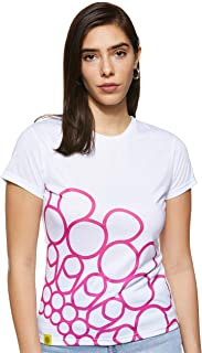 Expo 2020 Dubai Women's T-Shirt Made from Recycled Plastic Bottles - Pink Quarter Logo