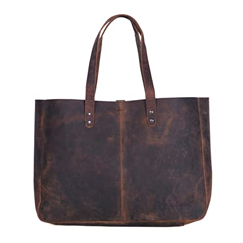 826a70fbbd8 Komalc Genuine Soft Buffalo Leather Tote Bag Elegant Shopper Shoulder  BagSALE