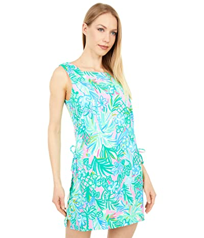 Lilly Pulitzer Donna Square Neck Romper (Pelican Pink Coconut Row) Women