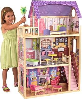 KidKraft- Kayla Casa de muñecas de madera con muebles y