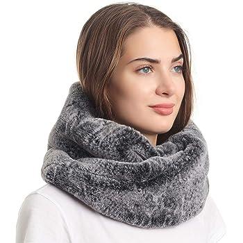 La Carrie Womens Winter Snakeskin Print Faux Fur Infinity Scarf Loop Circle Neck Warmer