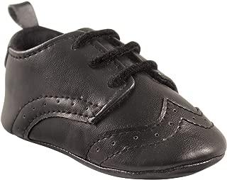 Boys Wingtip Dress Shoe Crib, Black, 12-18 Months M US Infant