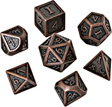 Blacksmith Craft Dice DND Dice Set - Metal Polyhedral Dungeons and Dragons Dice Sets with Dice Bag for RPG Gaming Including D20
