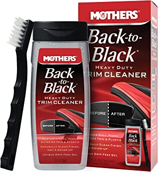 Mothers 06141 Back-to-Black Heavy Duty Trim Cleaner Kit,12 fl. oz.: image