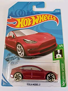 Hot Wheels 2019 Hw Green Speed Tesla Model 3 226/250, Maroon