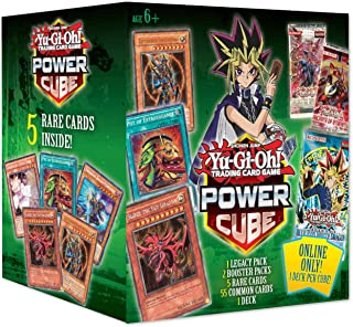 Yu-Gi-Oh! Trading Cards Power Cube 3- Online Exclusive- 1 Deck Included | 5 Rare Cards | 2 Booster Packs | Find Blue Eyes White Dragon Booster Packs, Multicolor (728192516863)