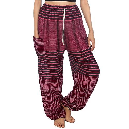 42c71e6c89f Lofbaz Women s Floral Eye Boho Harem Pants Bohemain hipster One Size
