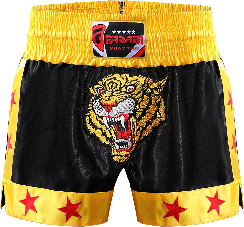 Muay Max 44% OFF Thai Shorts Kick Boxing Training Satin Black Short Great interest Gold Tig