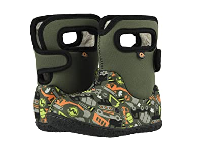 Bogs Kids Baby Bogs Construction (Toddler) (Green Multi) Boys Shoes