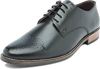 Heels & Shoes Men's Wholecut Oxford Black Faux Leather Shoes