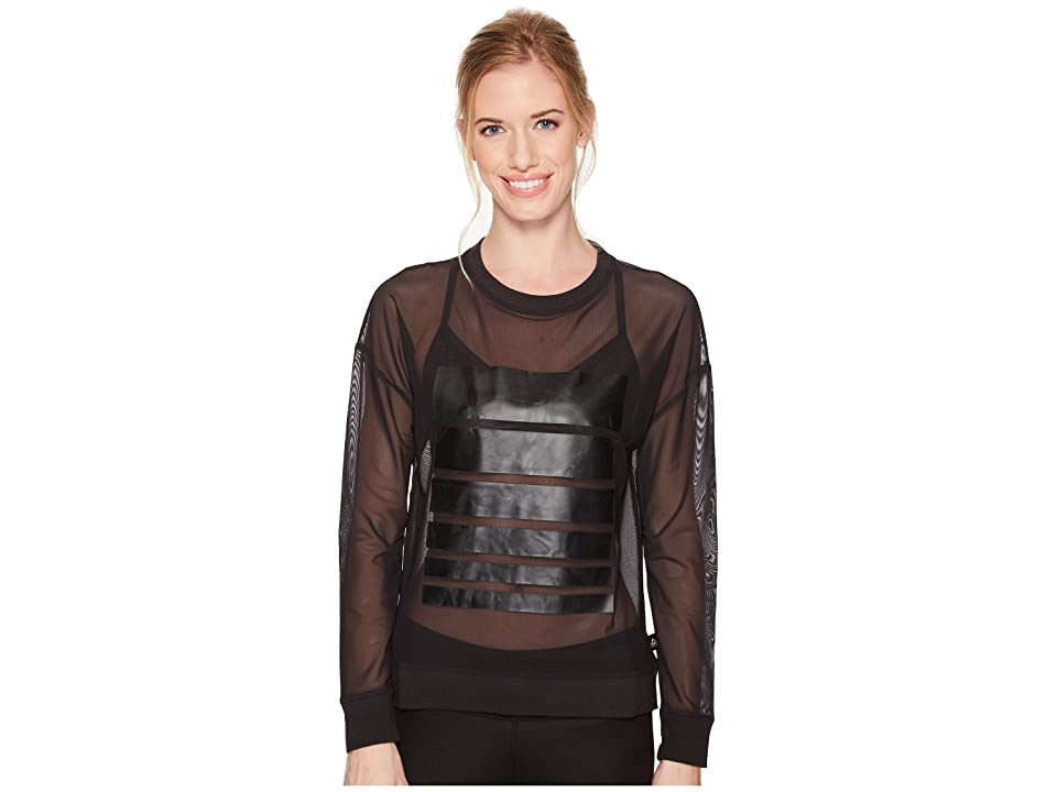 Reebok Mesh Long Sleeve Tee Graphic (Black) Women