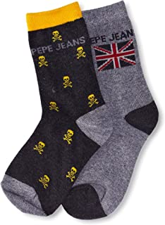 Pepe Jeans, Pack x 2 Calcetines Scamp Gris EU 28-31