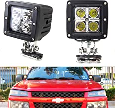 iJDMTOY A-Pillar LED Pod Light Kit For Truck SUV 4x4 ATV, Includes (2) 20W High Power CREE LED Cubes, Windshield A-Pillar Mounting Brackets & On/Off Switch Wiring Kit